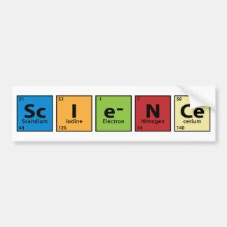 Ciencia Etiqueta De Parachoque