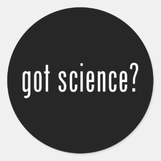 ¿ciencia conseguida? pegatina redonda