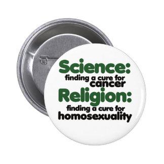 Ciencia CONTRA la religión Pin Redondo De 2 Pulgadas