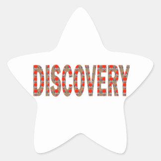 Ciencia Cosmo de la innovación de la búsqueda de Pegatina En Forma De Estrella