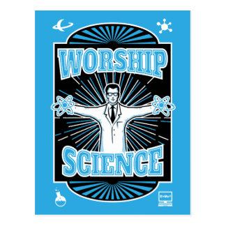 Ciencia de la adoración - friki de la tecnología tarjetas postales