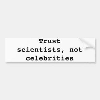 Ciencia de la confianza pegatina de parachoque