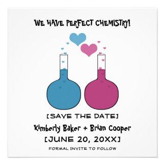 Ciencia de la reserva del amor que la fecha invita anuncio