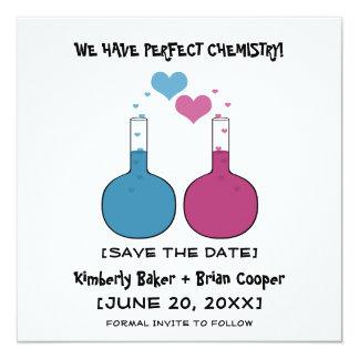 """Ciencia de la reserva del amor que la fecha invita invitación 5.25"""" x 5.25"""""""