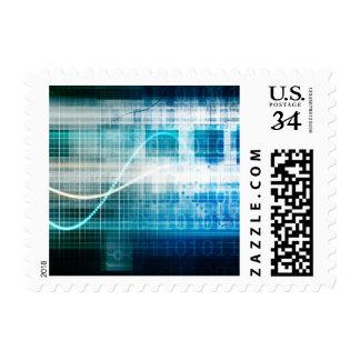 Ciencia de la salud como concepto para médico timbre postal