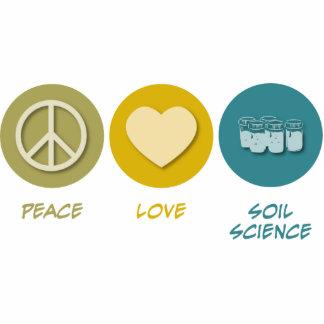 Ciencia de suelo del amor de la paz escultura fotografica