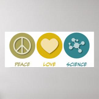 Ciencia del amor de la paz impresiones