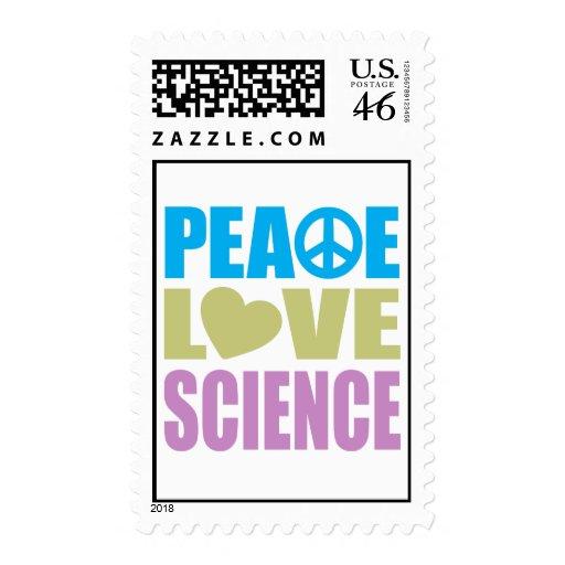 Ciencia del amor de la paz sello