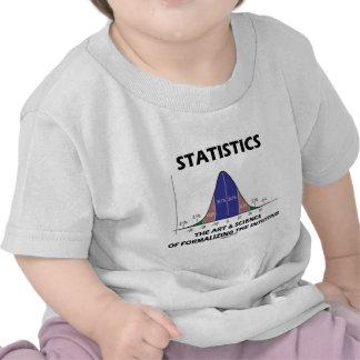 Ciencia del arte de las estadísticas de la formali camiseta