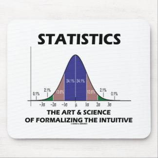 Ciencia del arte de las estadísticas de la formali alfombrillas de ratón
