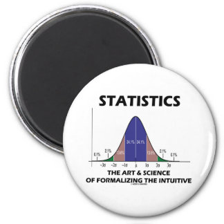 Ciencia del arte de las estadísticas de la iman de nevera