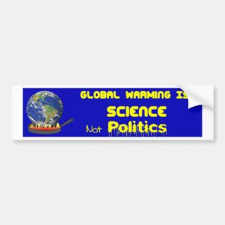 Ciencia del calentamiento del planeta pegatina para auto