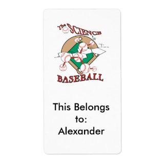 ciencia del gráfico molecular del béisbol etiquetas de envío