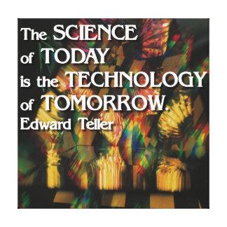 Ciencia del hoy, tecnología de la lona de la mañan lona envuelta para galerías