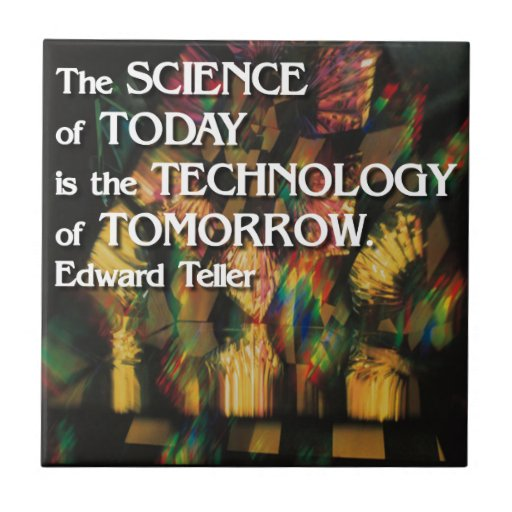 Ciencia del hoy, tecnología de la teja de la mañan