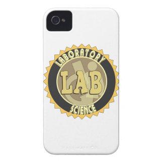 CIENCIA DEL LABORATORIO DE LA INSIGNIA DEL LABORAT Case-Mate iPhone 4 COBERTURA