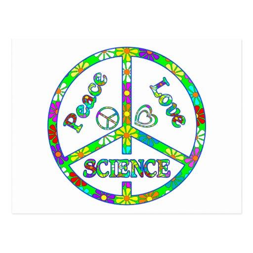 Ciencia del signo de la paz tarjetas postales