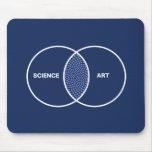 Ciencia/diagrama de Venn del arte Mouse Pad