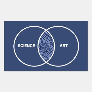 Ciencia/diagrama de Venn del arte Pegatina Rectangular