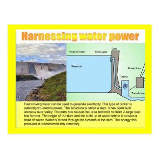 Ciencia, energía, aprovechando poder de agua tarjeta postal