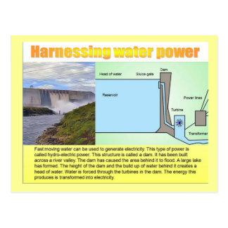 Ciencia, energía que aprovecha poder de agua tarjeta postal