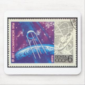 Ciencia espacial rusa de Sputnik 1 15 años Mouse Pad