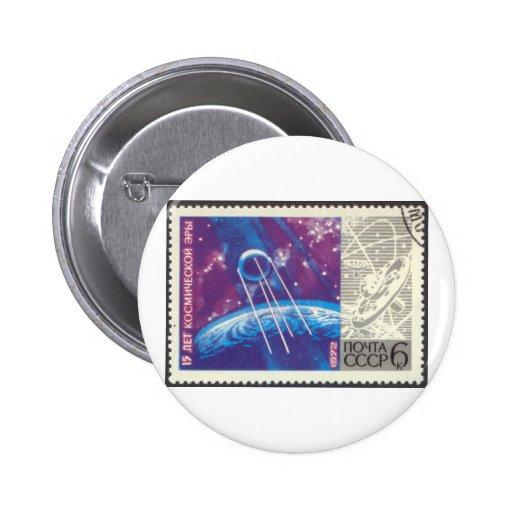 Ciencia espacial rusa de Sputnik 1 15 años Pins
