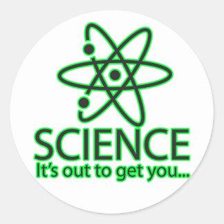 ciencia, está hacia fuera conseguirle… pegatina redonda