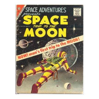 Ciencia ficción 1 cómico tarjeta postal