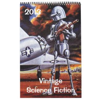 Ciencia ficción 2013 del vintage Sci Fi Calendario