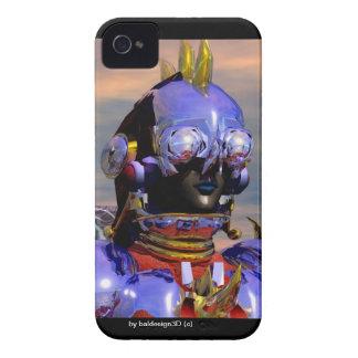 Ciencia ficción azul del RETRATO del CYBORG del Case-Mate iPhone 4 Funda