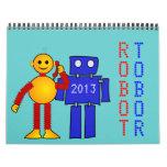 Ciencia ficción de la diversión del dibujo animado calendarios