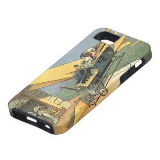 Ciencia ficción de los vintages Steampunk Kabriole iPhone 5 Case-Mate Carcasa