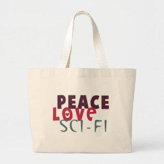 Ciencia ficción del amor de la paz bolsas de mano