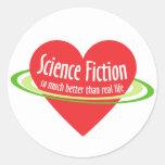 Ciencia ficción del amor pegatinas redondas