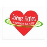 Ciencia ficción del amor postales
