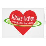 Ciencia ficción del amor tarjetas