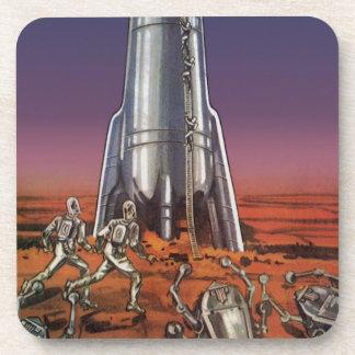 Ciencia ficción del vintage, astronautas, posavaso