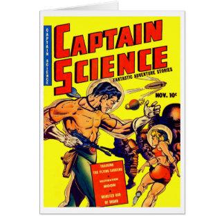 Ciencia ficción del vintage del guerrero del espac tarjeta pequeña