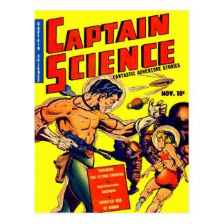 Ciencia ficción del vintage del guerrero del espac postal