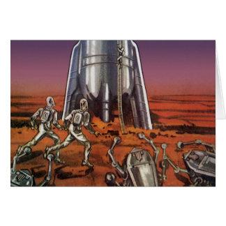 Ciencia ficción del vintage, extranjeros del tarjeta de felicitación