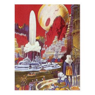 Ciencia ficción del vintage, la ciudad perdida de tarjetas postales