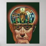 Ciencia ficción del vintage, laboratorio posters