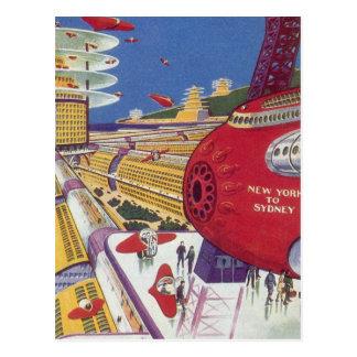 Ciencia ficción del vintage New York City Postales