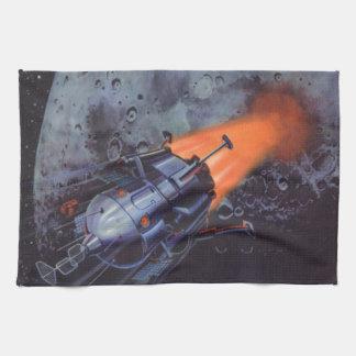 Ciencia ficción del vintage, Rocket que arruina de Toallas De Mano