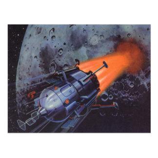 Ciencia ficción del vintage, Rocket que arruina de Postal