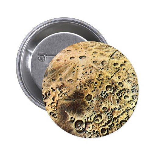 Ciencia ficción del vintage Rocket sobre la tierra Pin