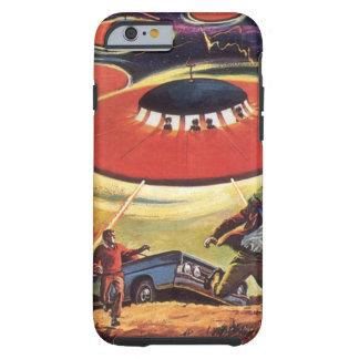 Ciencia ficción del vintage, Sci Fi, invasión Funda De iPhone 6 Tough