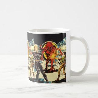 Ciencia ficción del vintage Sci Fi, luchando al ex Taza De Café