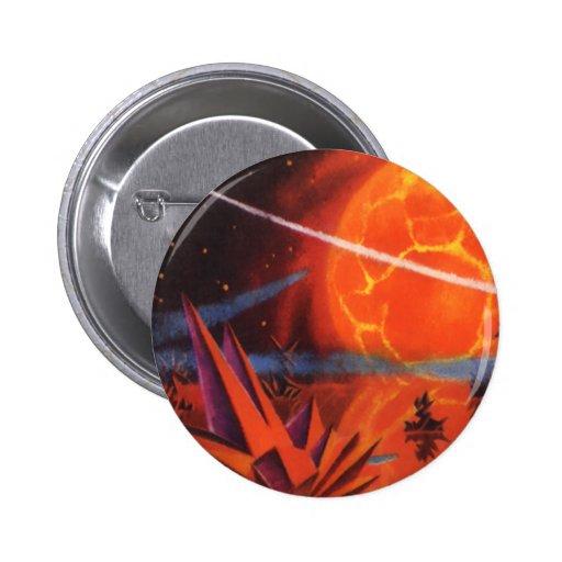 Ciencia ficción del vintage, Sci Fi, planeta ardie Pins